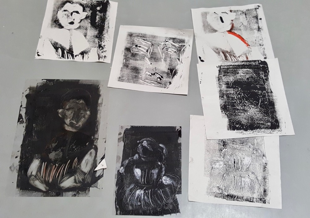 Collection of Degas inspired mono-prints - Sc Fitz
