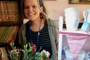 Rachel Dormor with her pots