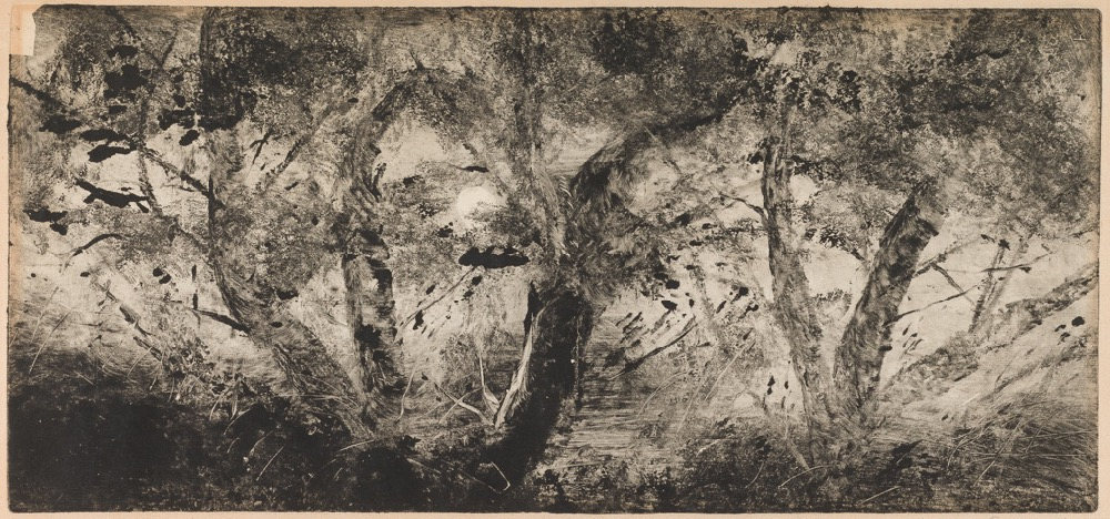 Saules et Peupliers - Willows and Poplars by Lepic, Ludovic Napoléon; printmaker; French artist, 1839-1889