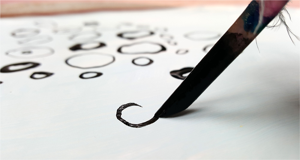 Using black ink to make marks