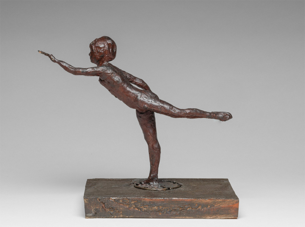Arabesque over Right Leg, Left Arm in Front, Degas, Circa 1885-82, Fitzwilliam Museum, Cambridge