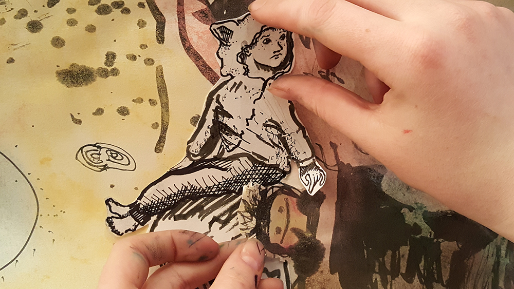 Adding to the shared ink drawing