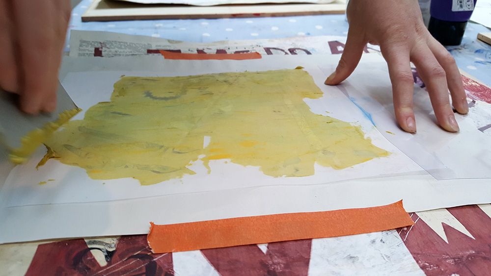 An easy way to screen print with a whole class, without the need for expensive screens!