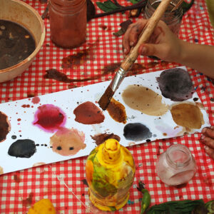 Creating pigments and dyes from nature