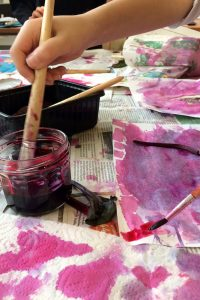 Painting with natural pinks