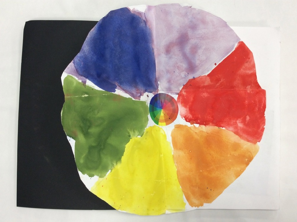 Colour wheel painted by a Year 1 pupil, aged 5 years