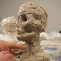 MPM_Skull_Developing the eye sockets, nose and cheekbones