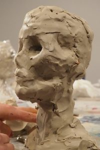 MPM_Skull_Developing the eye sockets, nose and cheekbones