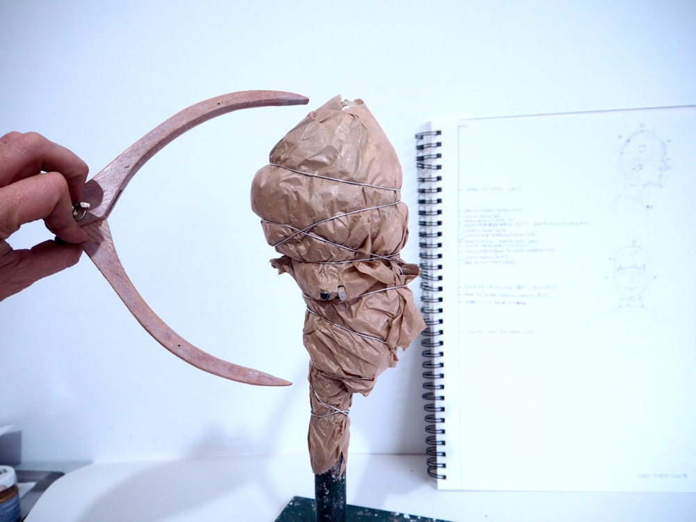 Modelling the Head in Clay - Part 1 Armature by Melissa Pierce Murray