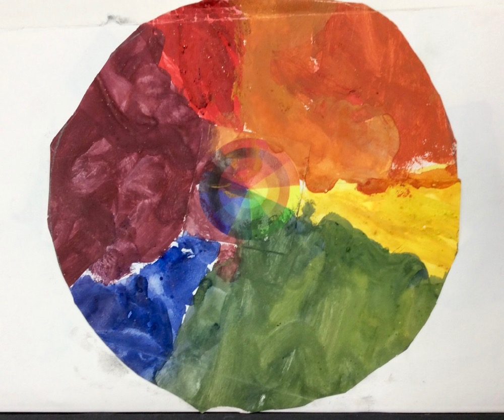Painted by a reception child aged 5 years using powder paint