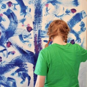 Painting a bluebell forest