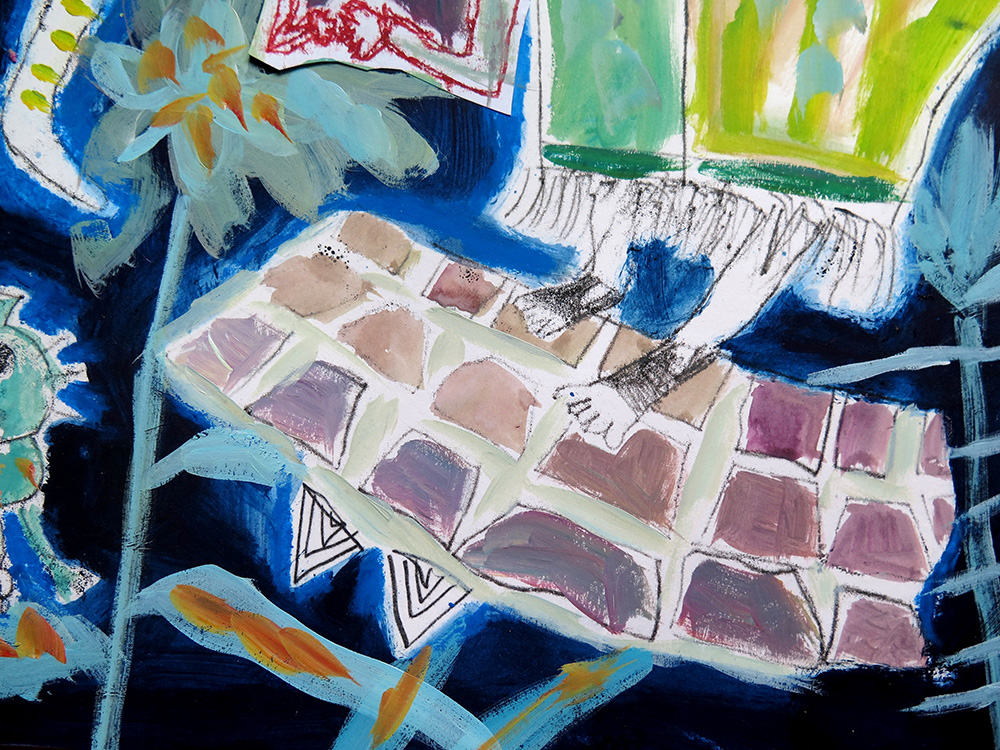 7 & 8 Year Olds Explore MonoPrinting & Oil Painting