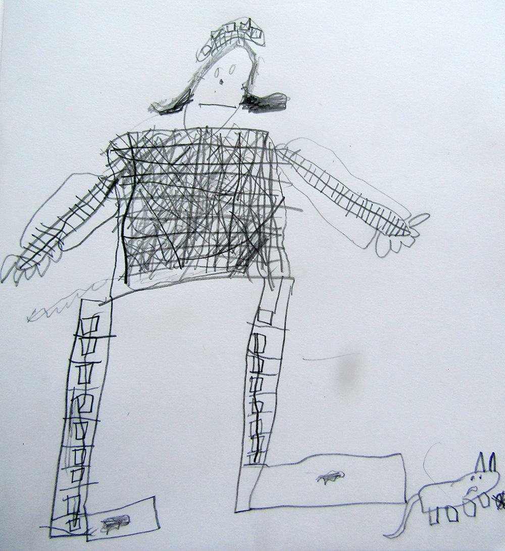 Initial drawings in response to verbal clues