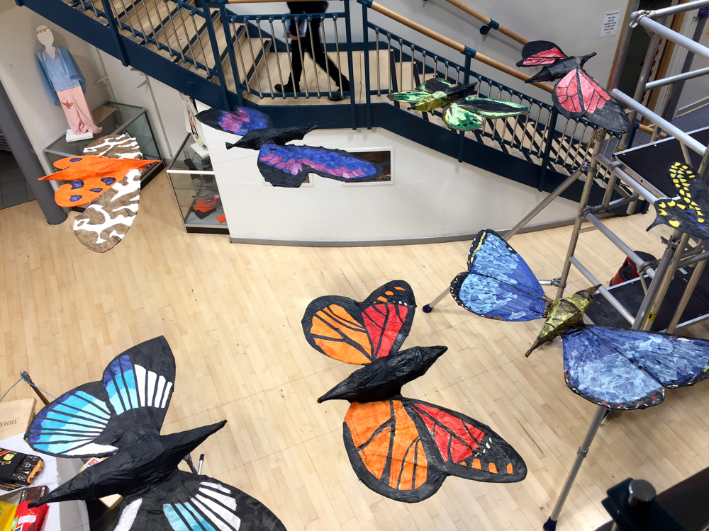 Withy Butterflies by Anne-Louise Quinton