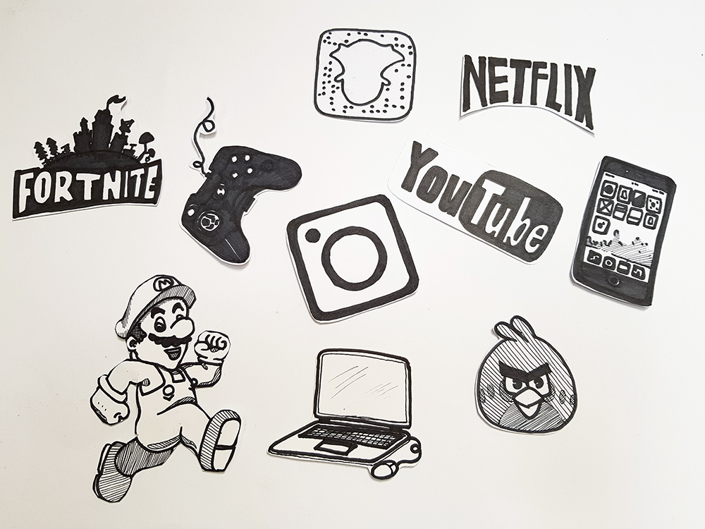 illustrations for animations