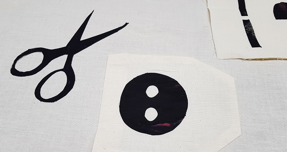 screen printed pattern pieces