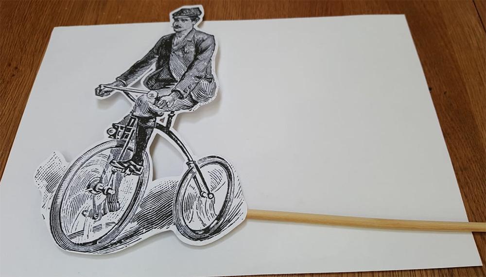 bike on dowel