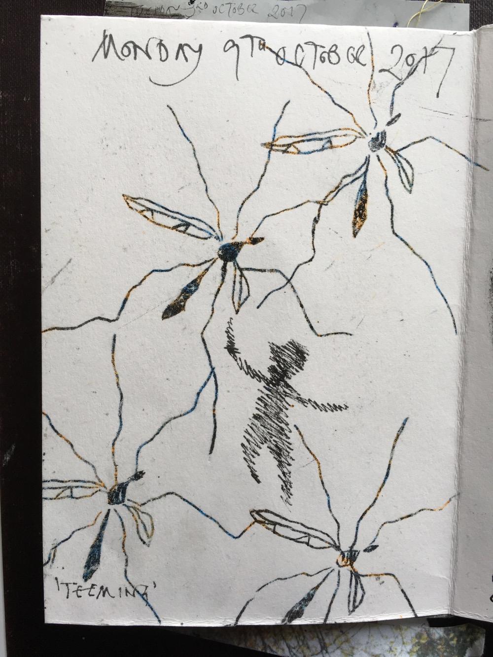 Day 9: 'Teeming',Inktober Challenge, by MoragThomson Merriman