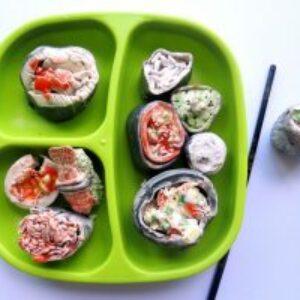 Making clay sushi