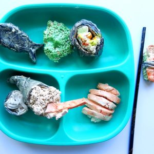 Japan - Making Sushi Recycled Style! by Jan Miller