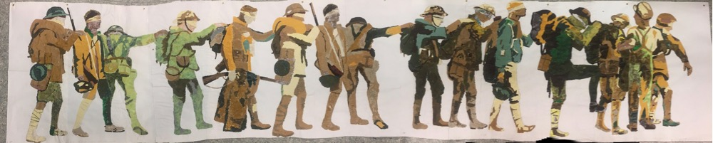 Artist Anne-Louise Quinton creates a project for her Year 9 pupils to commemorate Remembrance Day.