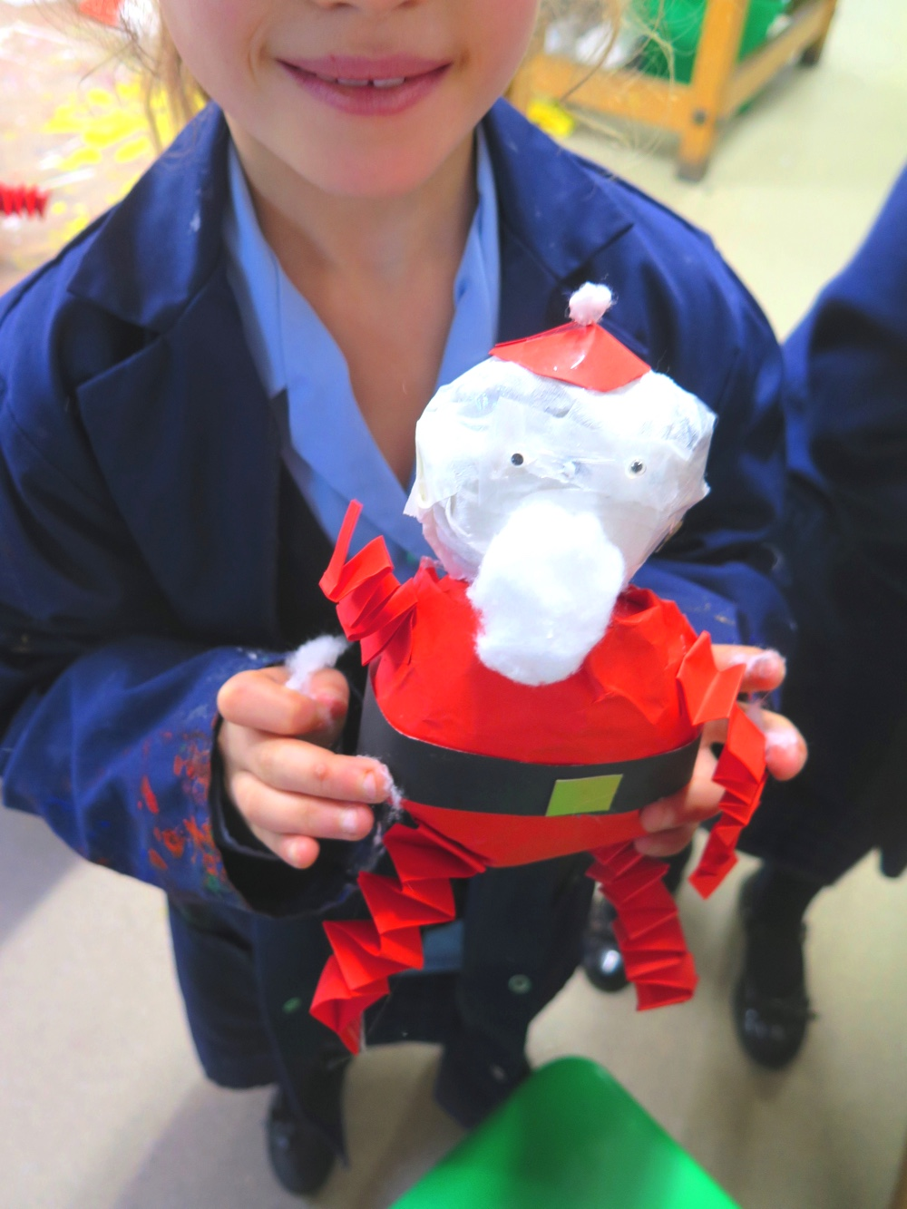Santa Comes In All Shapes and Sizes: Yr 3 Make Bouncing Santas by Jan Miller
