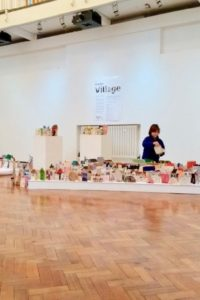 The AccessArt village pop-up exhibition at ARU