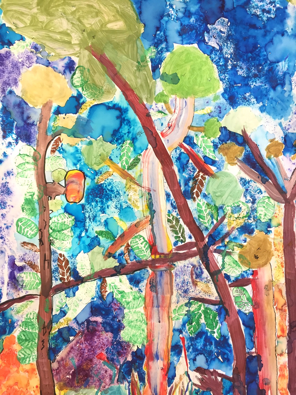 Painting A Rainbow Forest by Rachel Burch