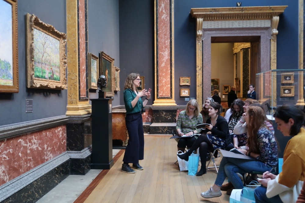 Kate guides teachers on a 'Deep Looking' exercise to support looking and to explore beyond the surface of a painting and develop an imaginative, multi-sensory response. Teachers are encouraged to use their sketchbooks to make notes and sketches and to let their minds wonder.