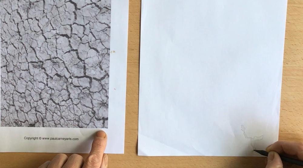 Doppleganger Drawing by Paul Carney