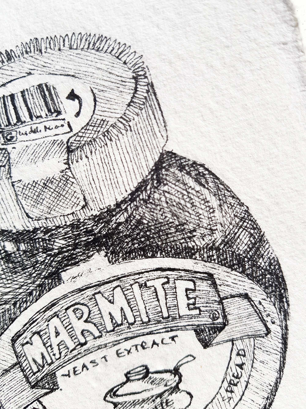 Ink & Nib Still life exploring mark making