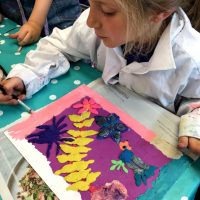'Painting' with Plasticine by Sharon Gale