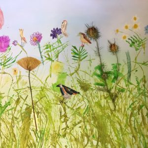 Creating a collage wildflower meadow