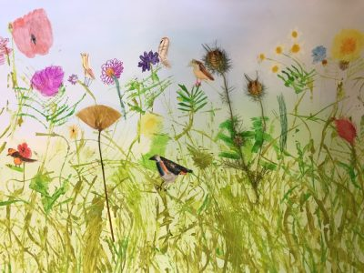 Rachel Burch, Head of Art at Burton Hathow Preparatory School and her pupils explore simple drawing, collaging and painting techniques to create beautiful artworks inspired by a summer meadow.