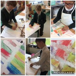 """We explore a wide range of making skills including sculpture, sewing, engineering and also painting and drawing. This term we are looking at how STEM concepts can be used in creative learning. We will also be painting a rainbow forest to encourage collaborative learning and thinking""."