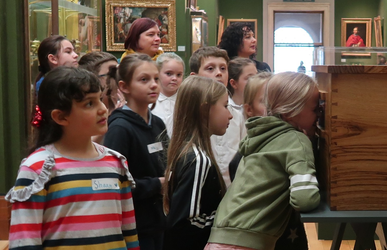 Tour of the Museum with Holly Morrison pupils from Morley Memorial and St Peter's Juniors