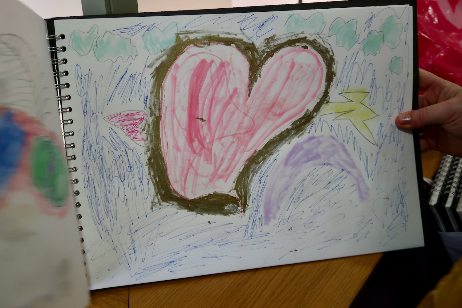 A sketchbook entry from one of the Fitzy Peters artists - under the guidance of Natalie Bailey at St Peters Junior