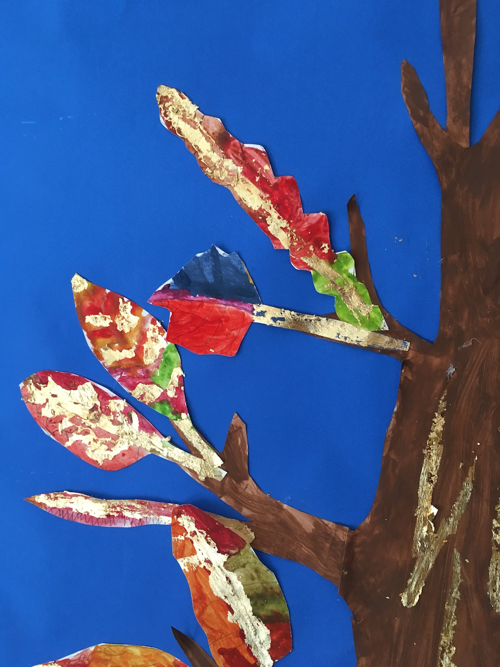 A fourth close up of the finished Tree by The Owl Class at Hauxton Primary led by Pamela Stewart for Inspire