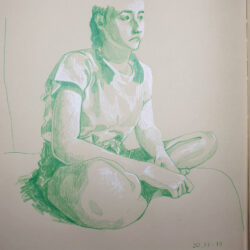 Practice developing your understanding of foreshortening by working from photographic source material in your sketchbook