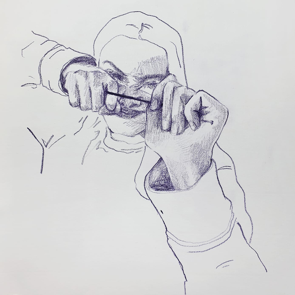 Exploring foreshortening in drawing