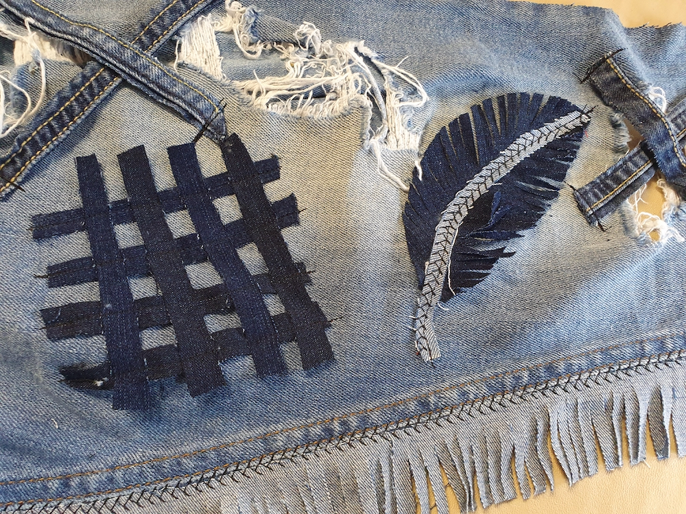 'Fitzy Peters' created feathers and tassels out of denim with Natalie Bailey for Inspire