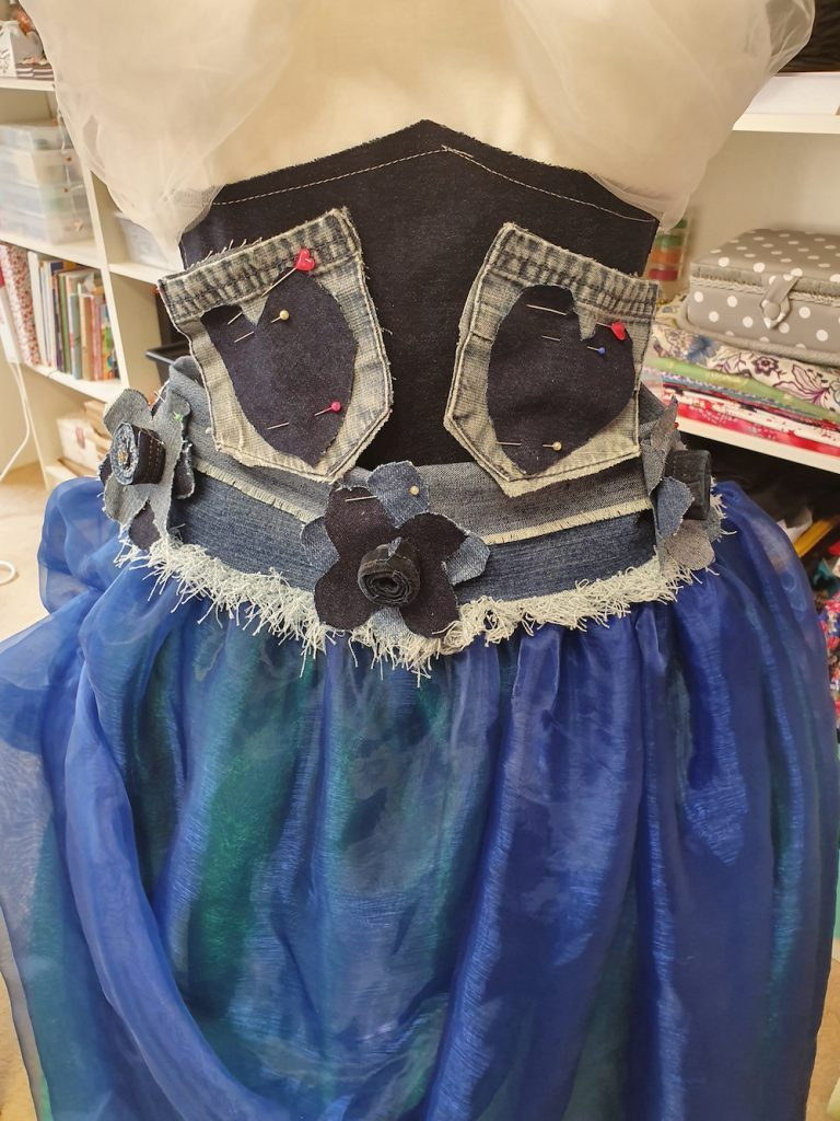 Psyche's dress made by a froup of children called the Fitzy Peters for Inspire 2020 - with teacher Natalie Bailey - Inspire