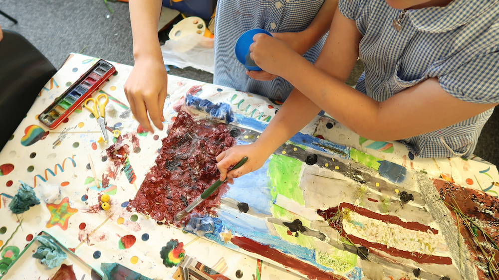 Year Five children at Linton Heights working with mixed media in response to Cupid and Psyche - Fitz - inspire - Kirsty Webb