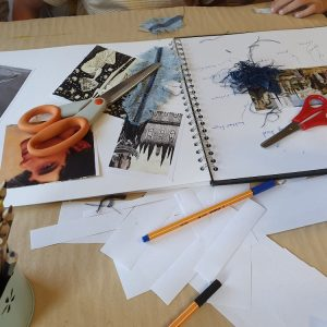 Resources which can be used at home or school to explore drawing, sketchbooks and making.