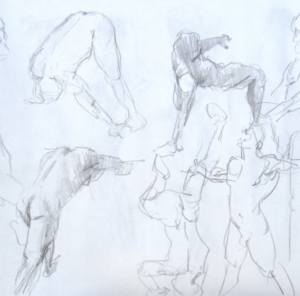 Capture the essence of a pose through gesture, by Hester Berry
