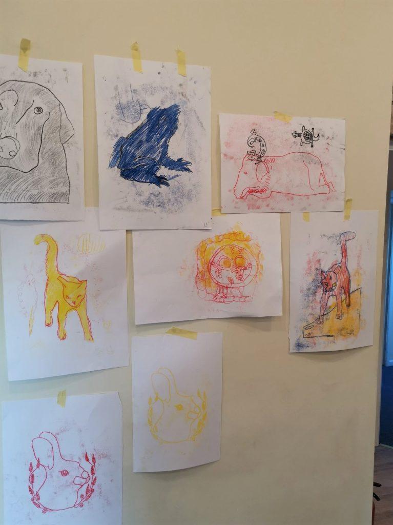 finished prints displayed