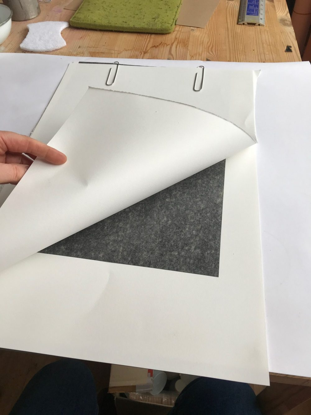 using carbon paper to sketch