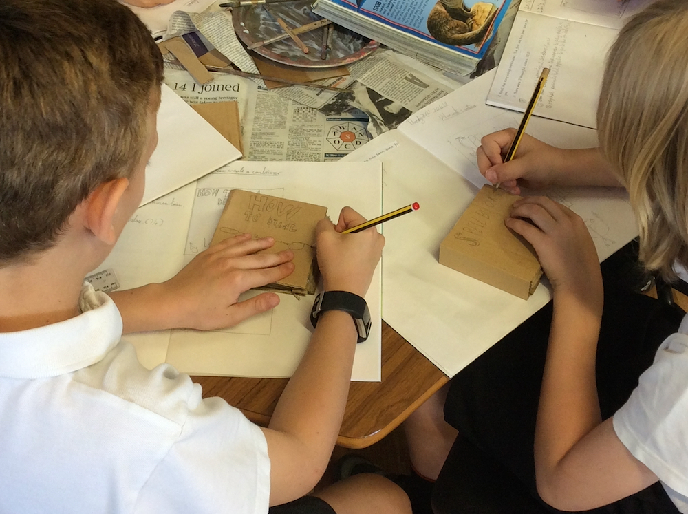 Year 4 pupils making Harry Potter boxes at Linton Heights Junior School