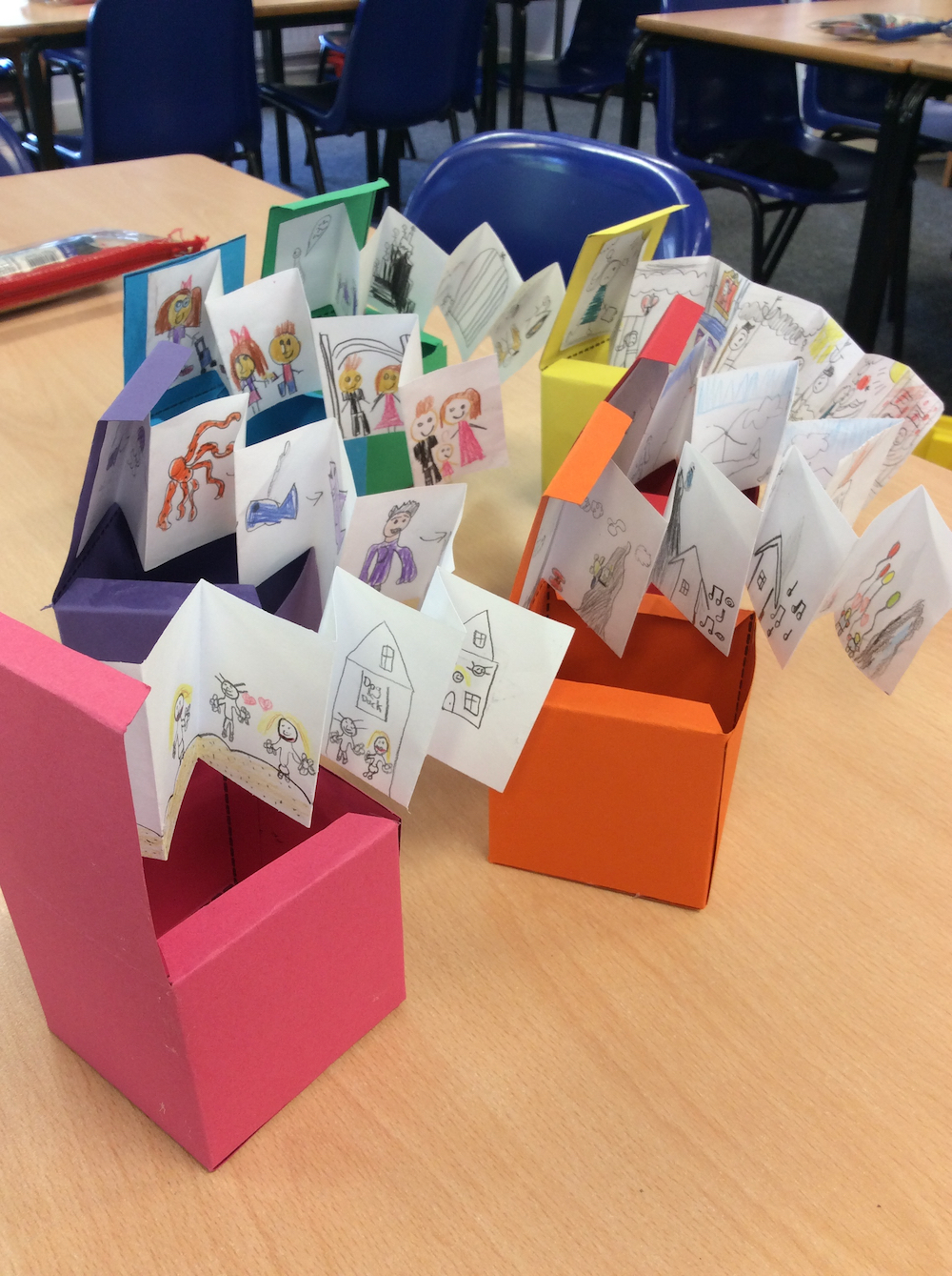 Story Boxes by Year 3 pupils at Linton Heights junior School