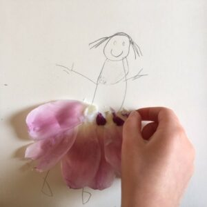 Collage using petals